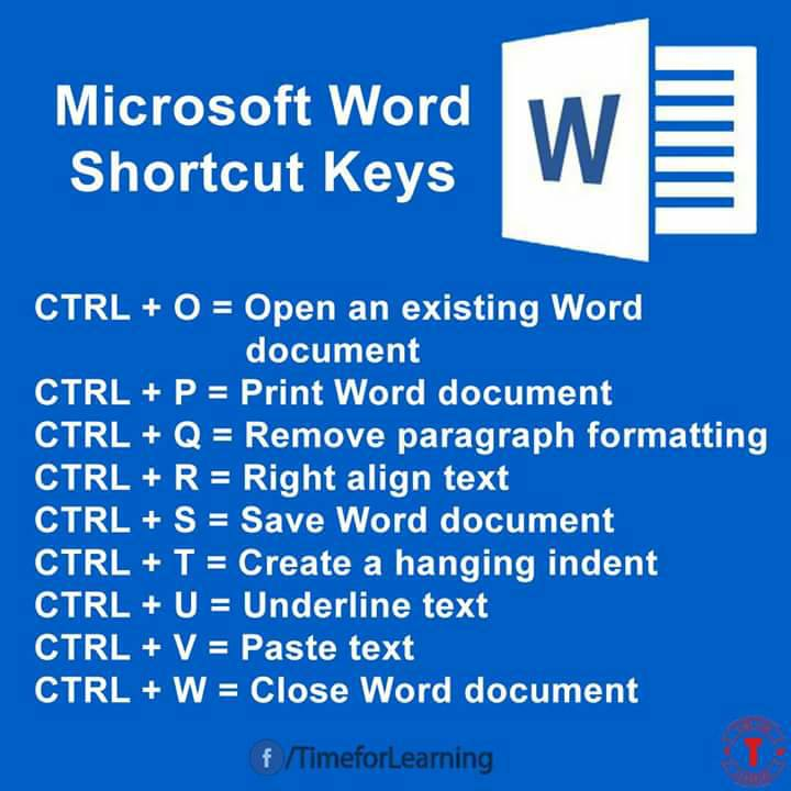 Microsoft office word 2017 shortcut keys pdf free download ...