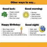Other Ways to Say-Happy birthday, good night