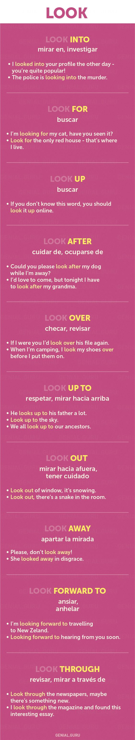 Using Verb LOOK