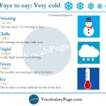 Ways To Say VERY COLD