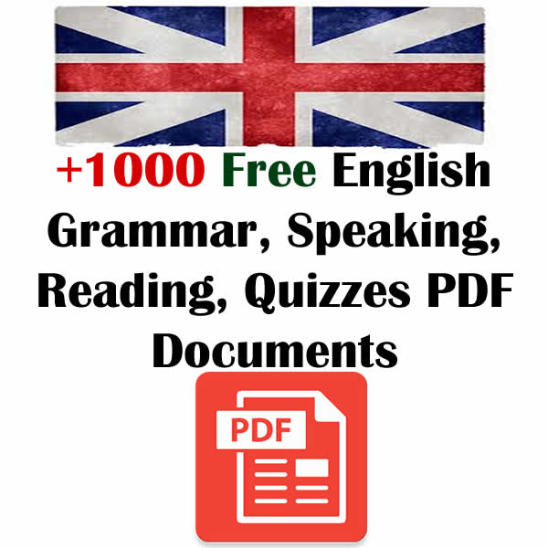 English Exercises, Quizzes PDF Materials (With Answers) - English