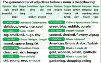 Adjectives - Word Order