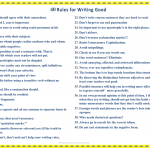40 Rules for Writing Good