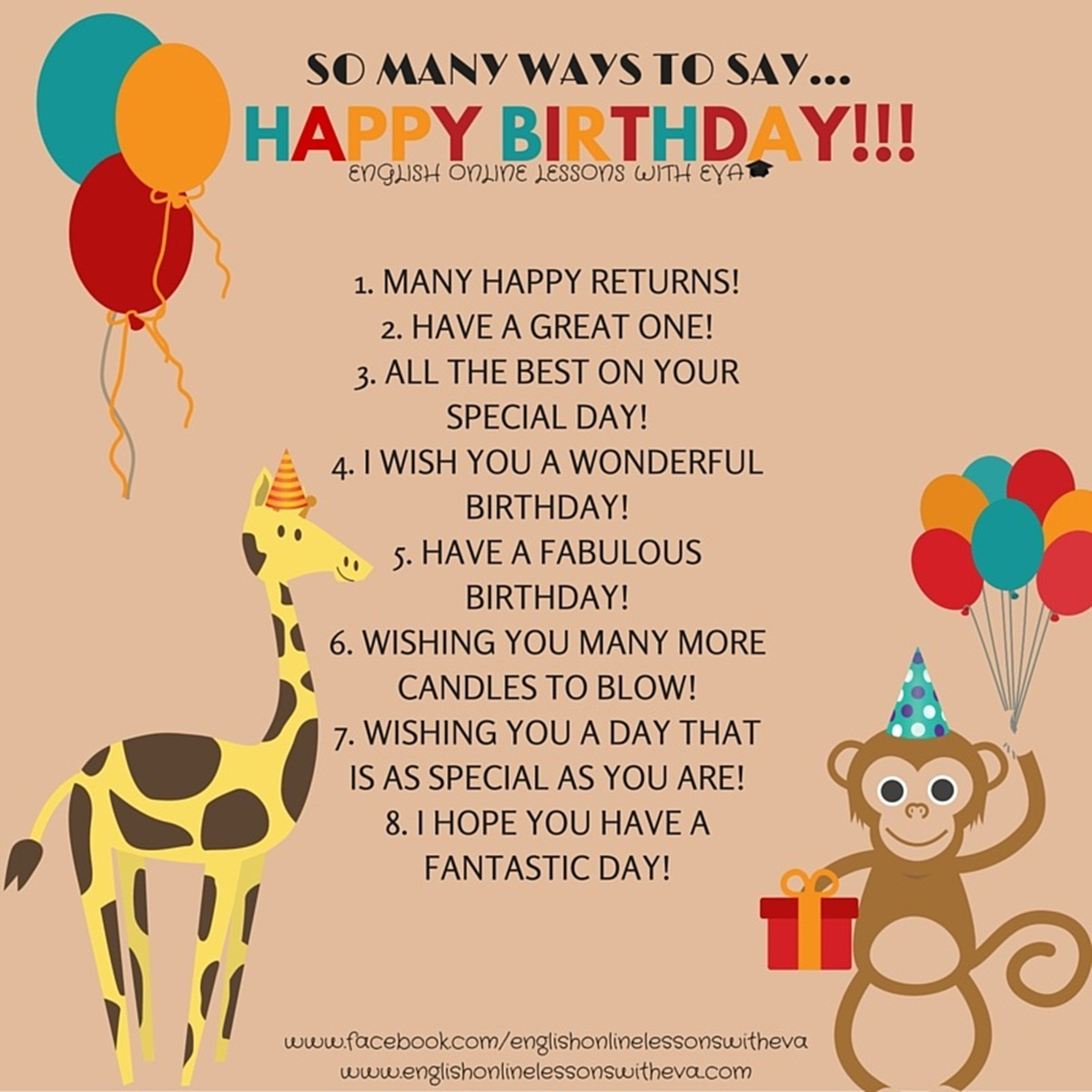 Many Ways To Say Happy Birthday English Learn Site