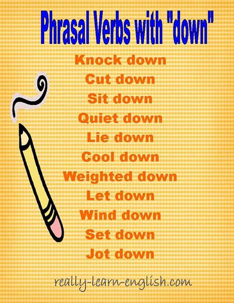 Phrasal Verbs with down