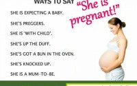 Ways to say she is pregnant