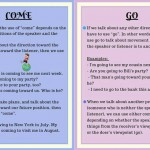 Using Come and Go in English