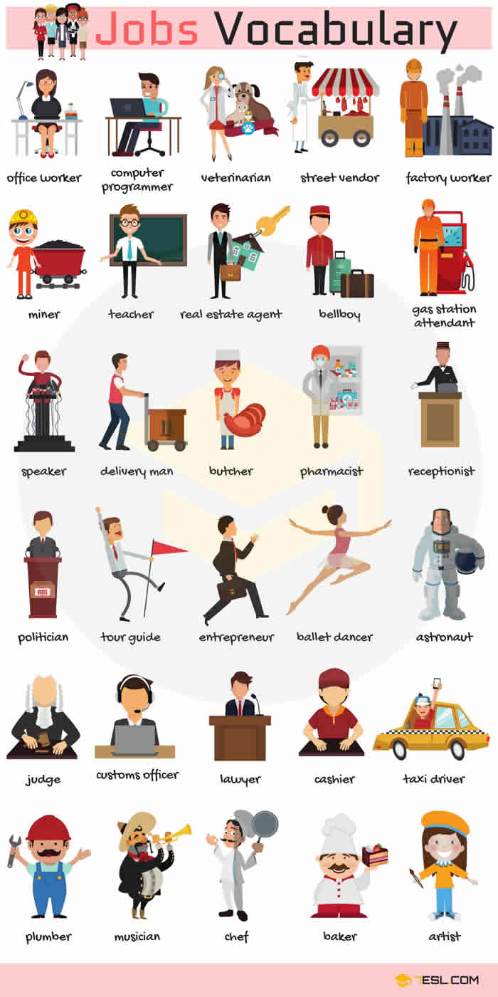 Jobs and Occupations Vocabulary in english-2